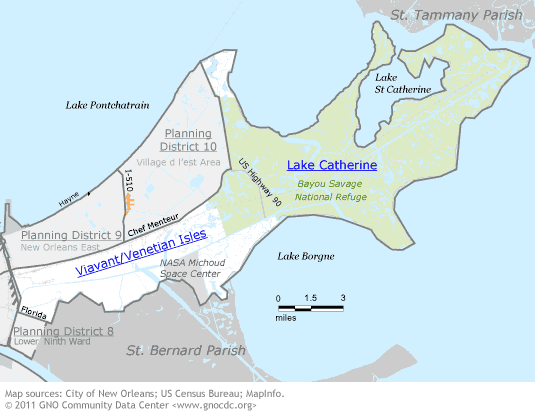 New Orleans East Map