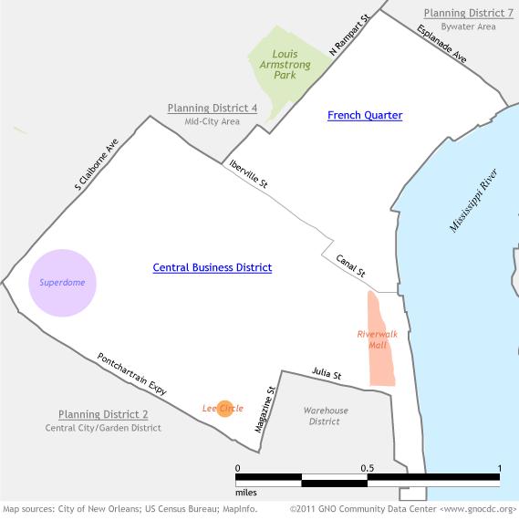 French Quarter/CBD Map