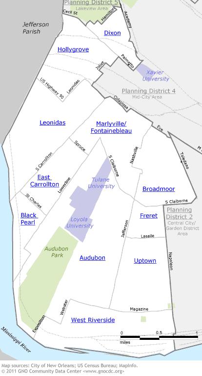 Uptown/Carrollton Map