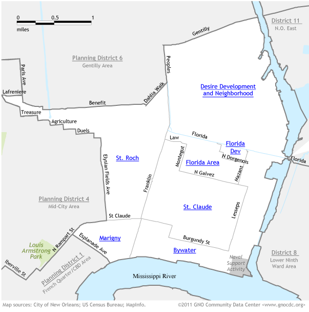 Bywater Map