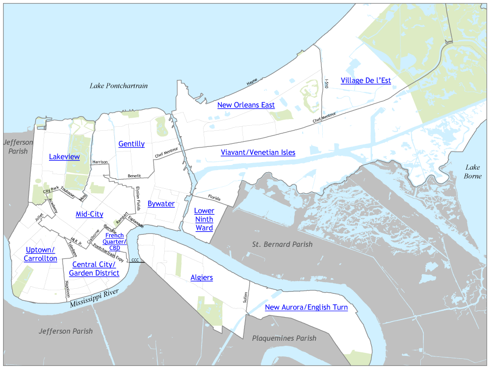 Orleans Parish Map