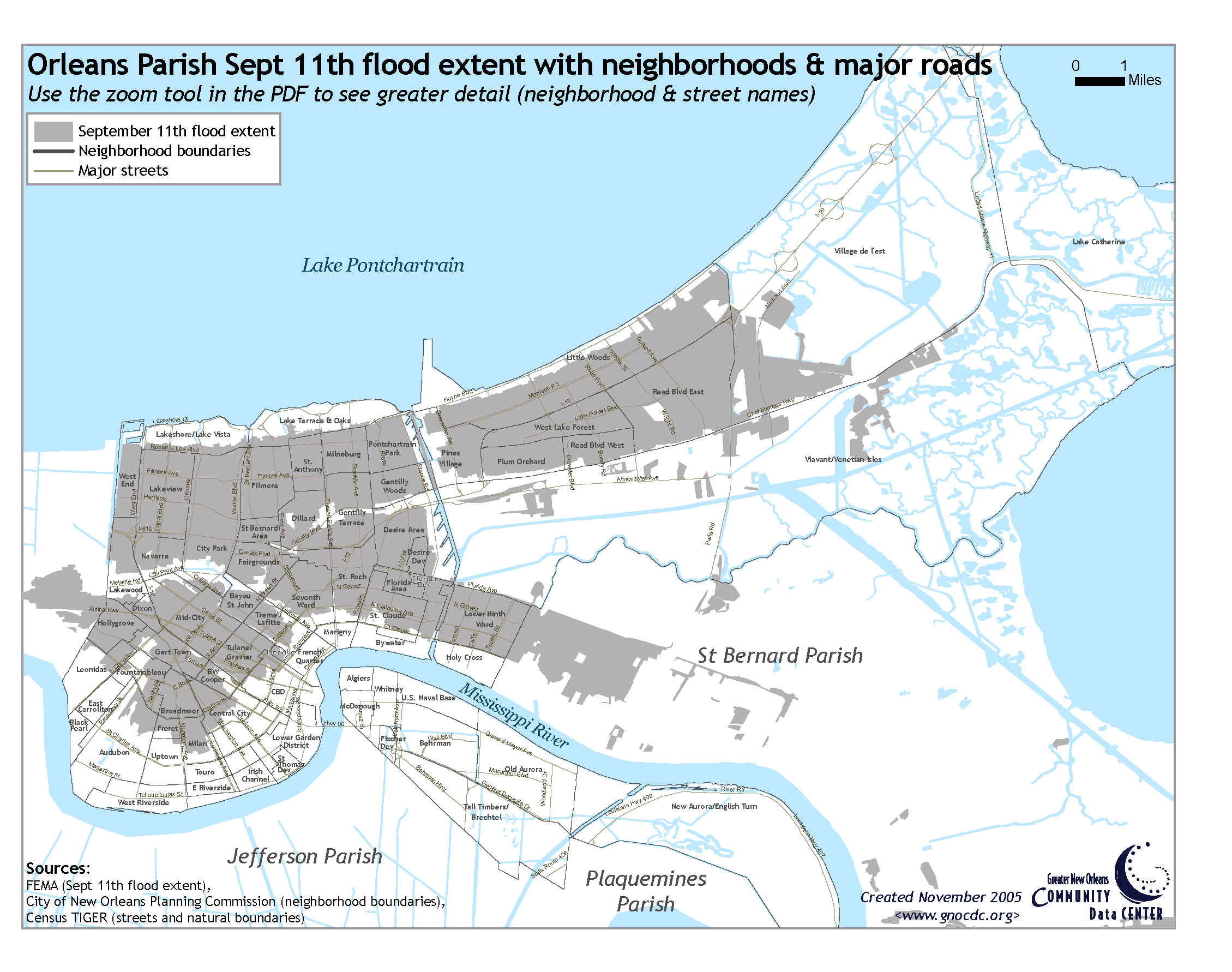 Zip Codes New Orleans Map.Reference Maps The Data Center