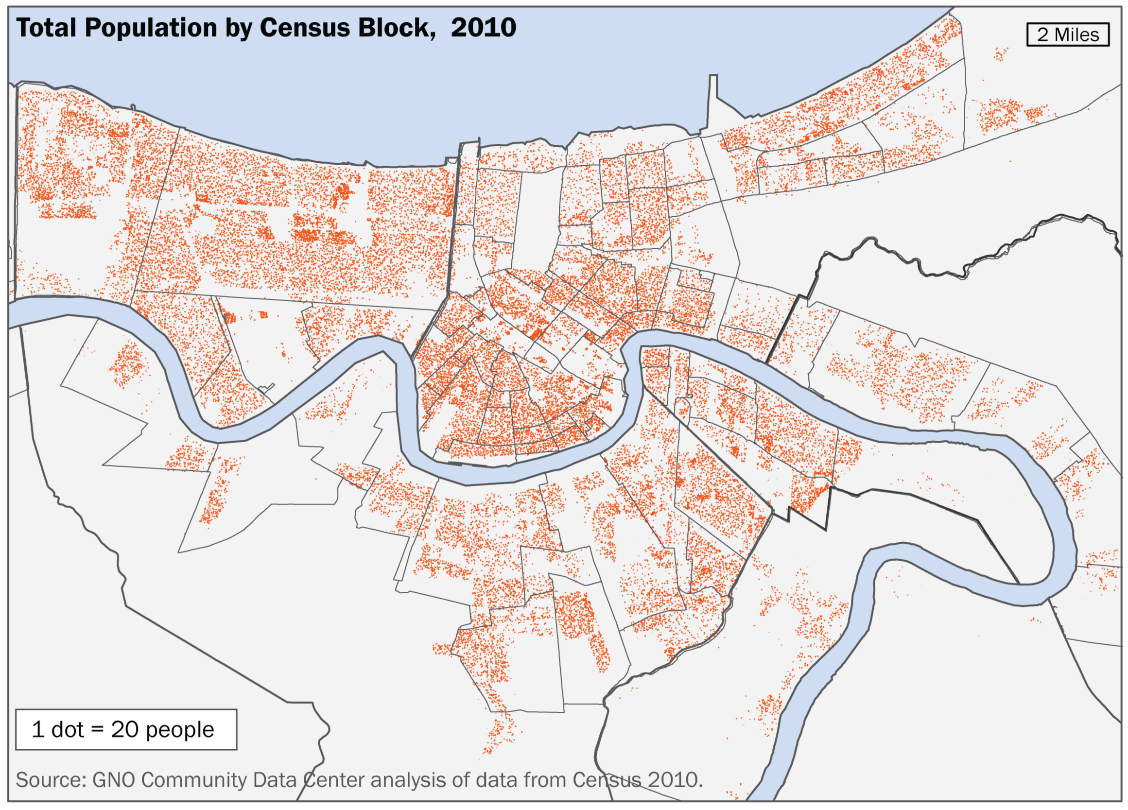Shifts in Population and Loss of Children across the New Orleans Metro Area