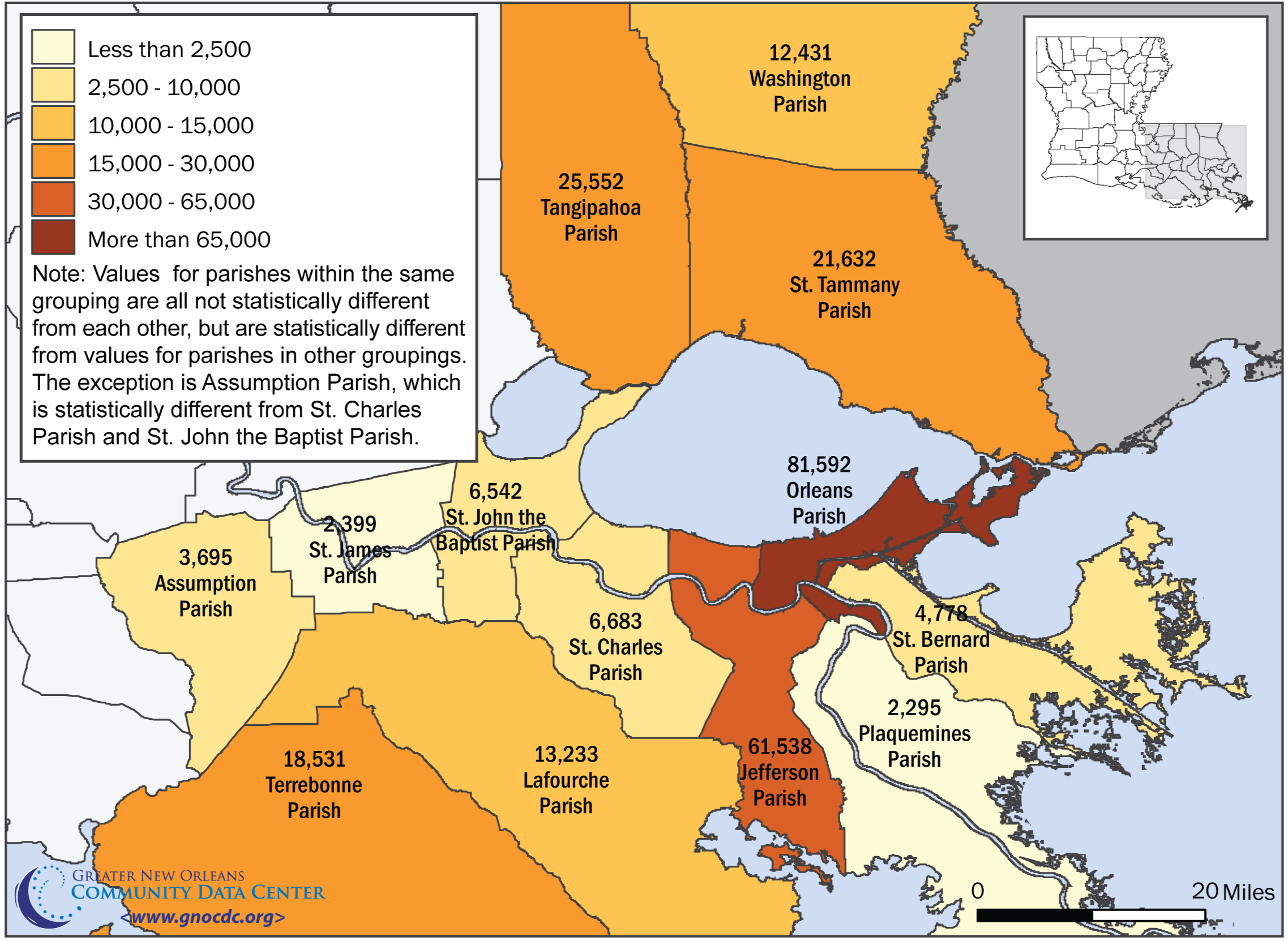 Poverty in Southeast Louisiana Post–Katrina