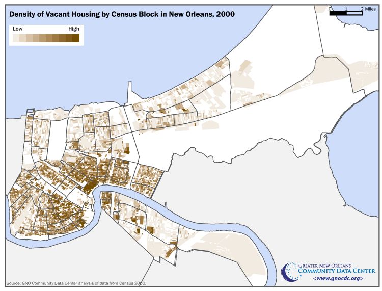 Population Loss And Vacant Housing In New Orleans