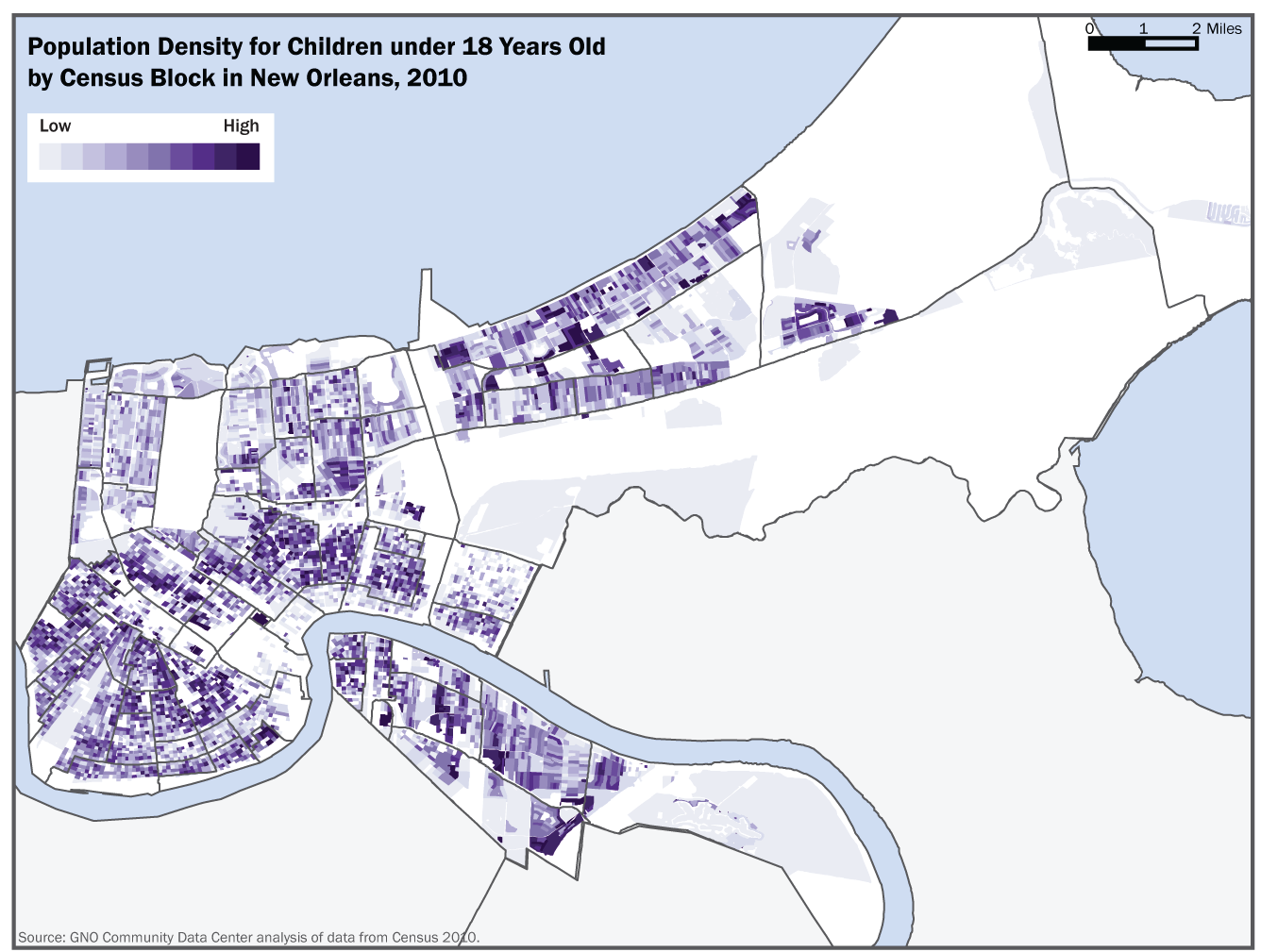 The Loss of Children from New Orleans Neighborhoods