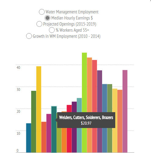 Interactive: What are the top water management occupations?