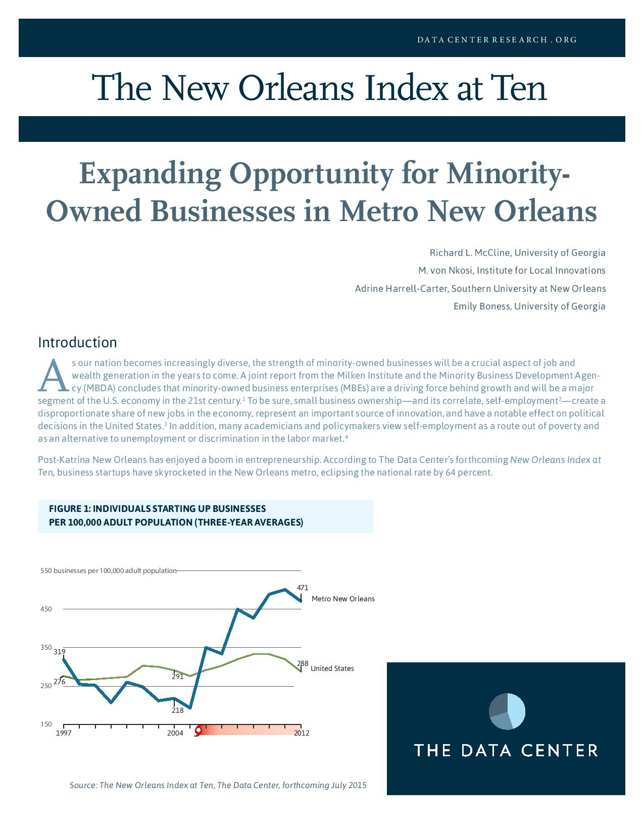 Expanding Opportunity for Minority-Owned Businesses in Metro New Orleans