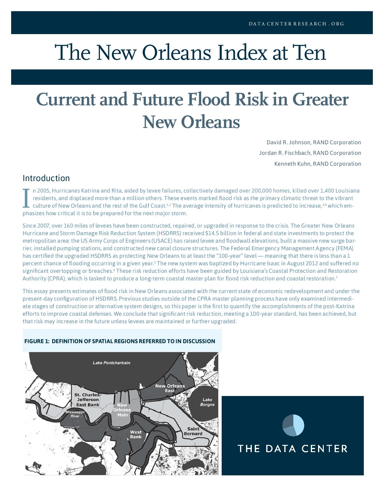Current and Future Flood Risk in Greater New Orleans