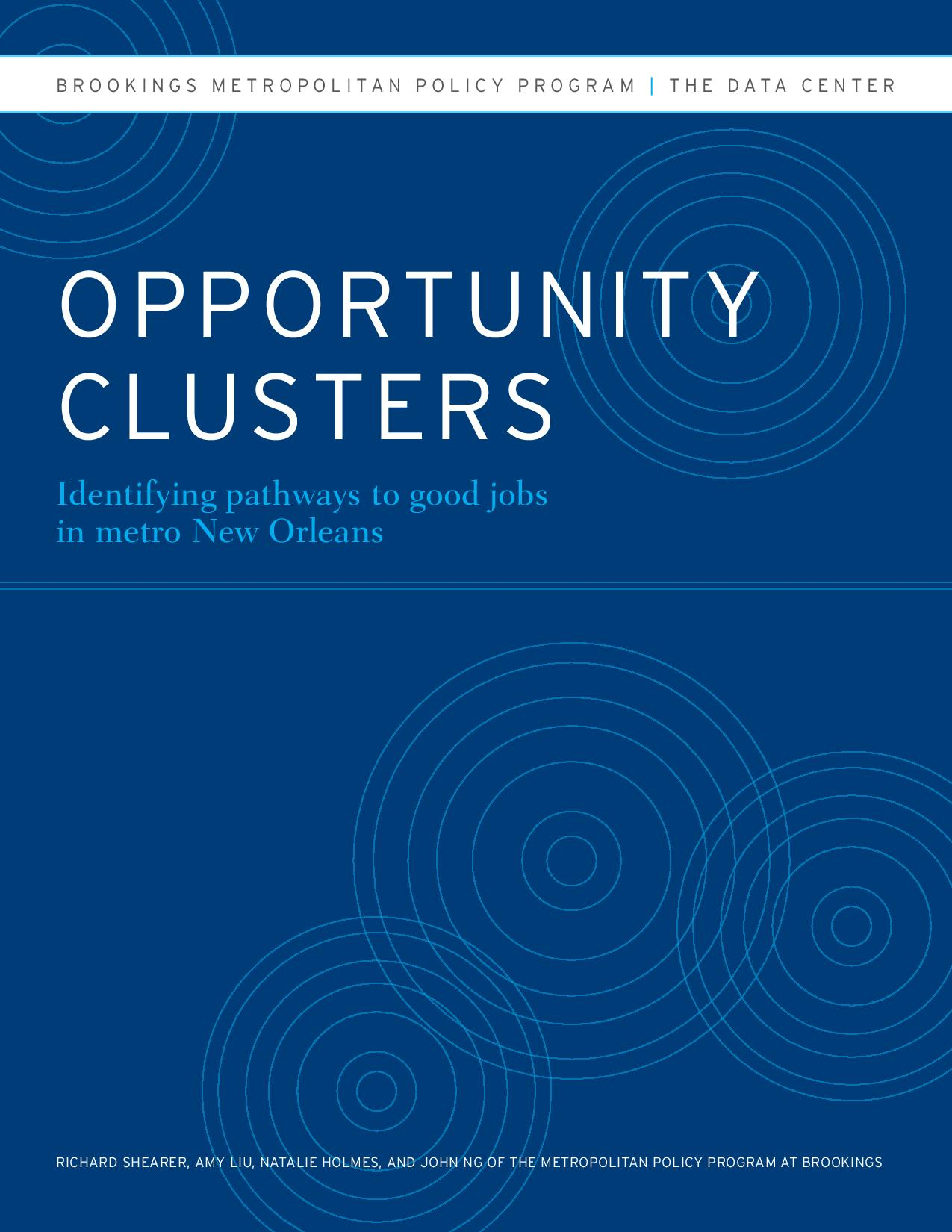 Opportunity Clusters: Identifying Pathways to Good Jobs in Metro New Orleans