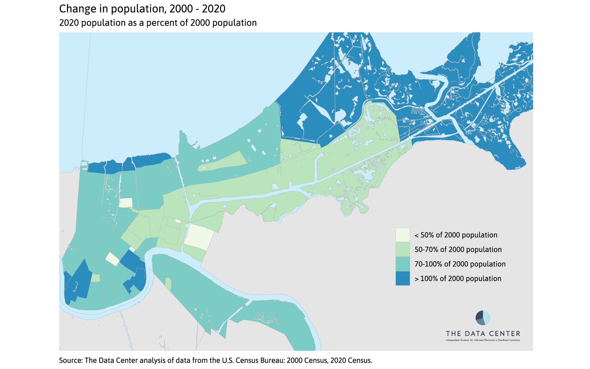 Percent Change, 2000 to 2020